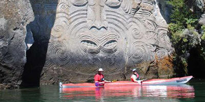 Kayaking Taupo Maori Rock Carvings